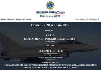 VISITA BASE AEREA POGGIO RENATICO