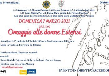 """Conferenza """"OMAGGIO ALLE DONNE ESTENSI"""""""